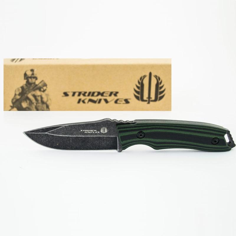 Тактически многоцелеви нож STRIDER KNIVES G2 с кожена кания ест.гьон, ловен нож