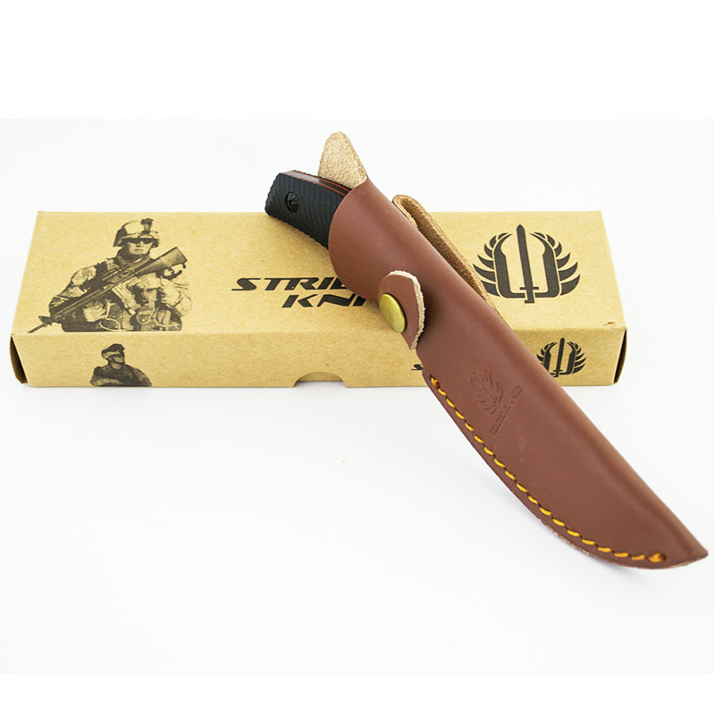 Тактически многоцелеви нож STRIDER KNIVES G1 с кожена кания ест.гьон, ловен нож