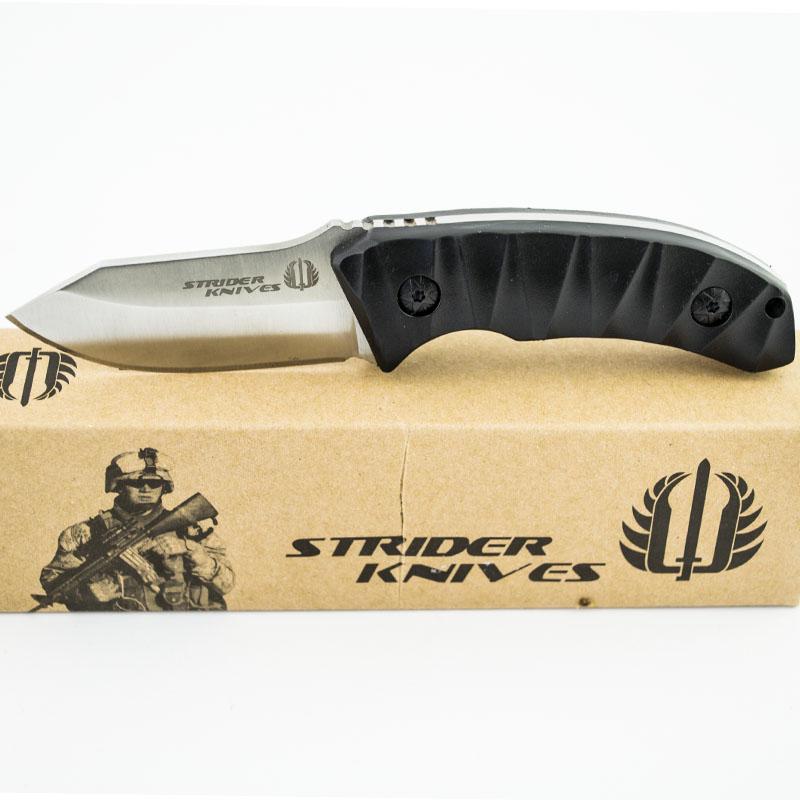 Тактически многоцелеви нож STRIDER KNIVES G4 SILVER COMPACT, с кания за колан, ловен нож