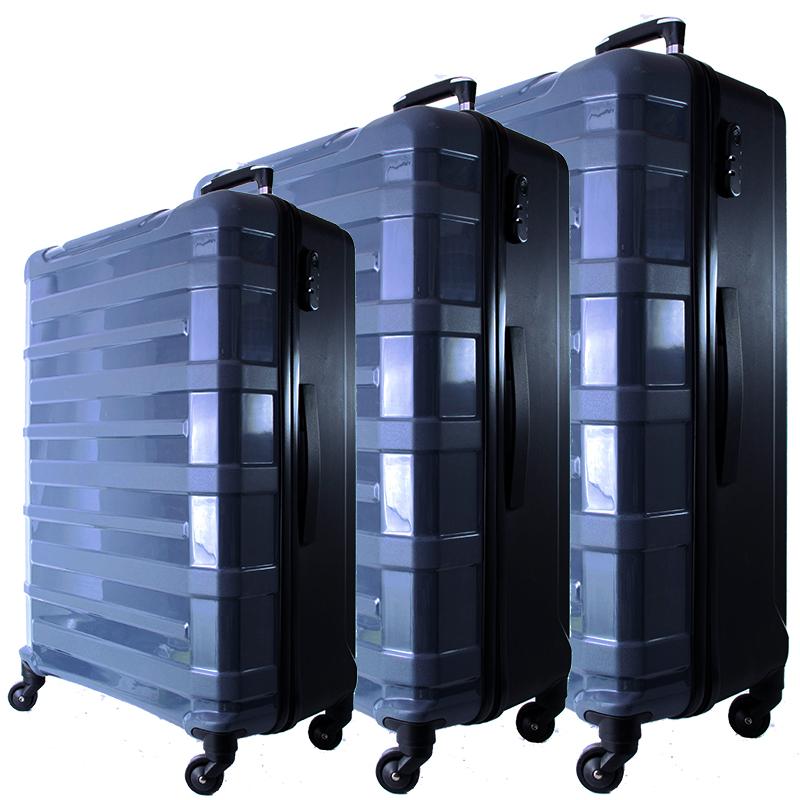 3 броя спинър куфари URBAN BUSINESS, полипропилен 31186, СИВ