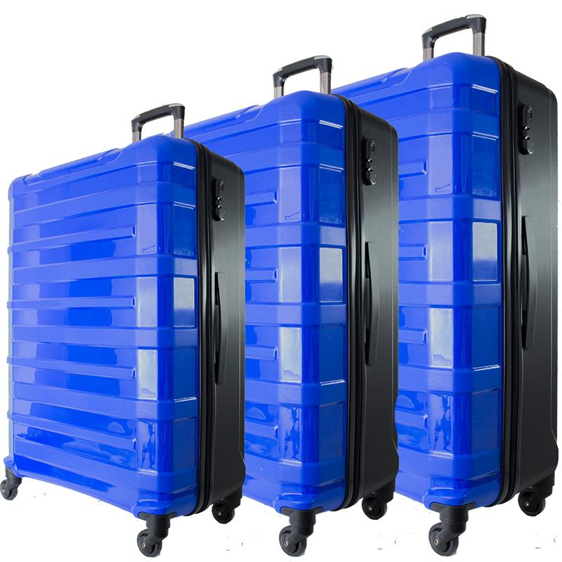 3 броя спинър куфари URBAN BUSINESS, полипропилен 31186, СИН