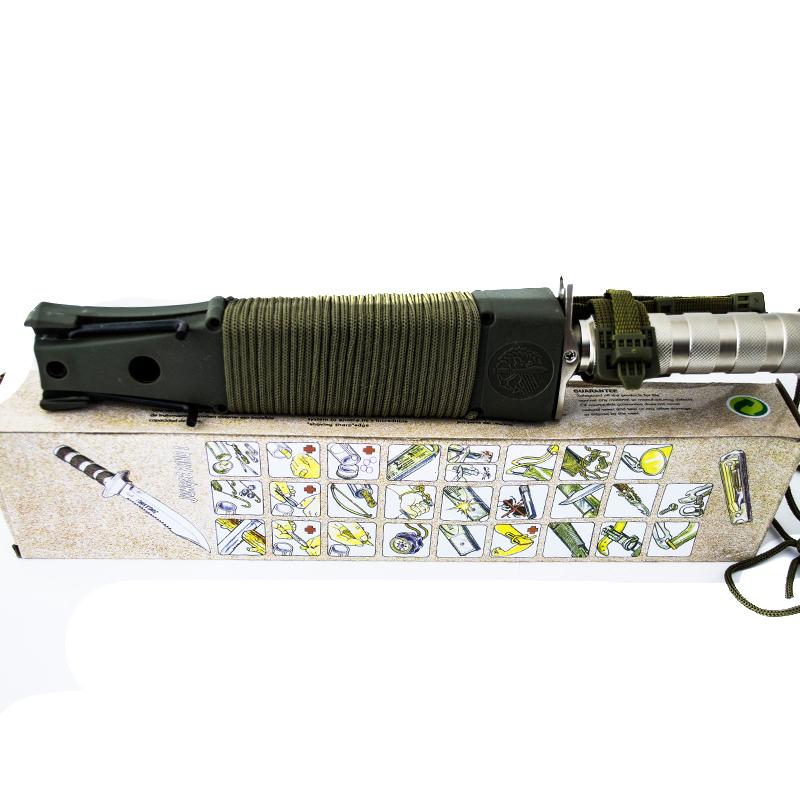 Тежък ловен нож JUNGLE KING А-19 SILVER с второ острие и комплект за оцеляване