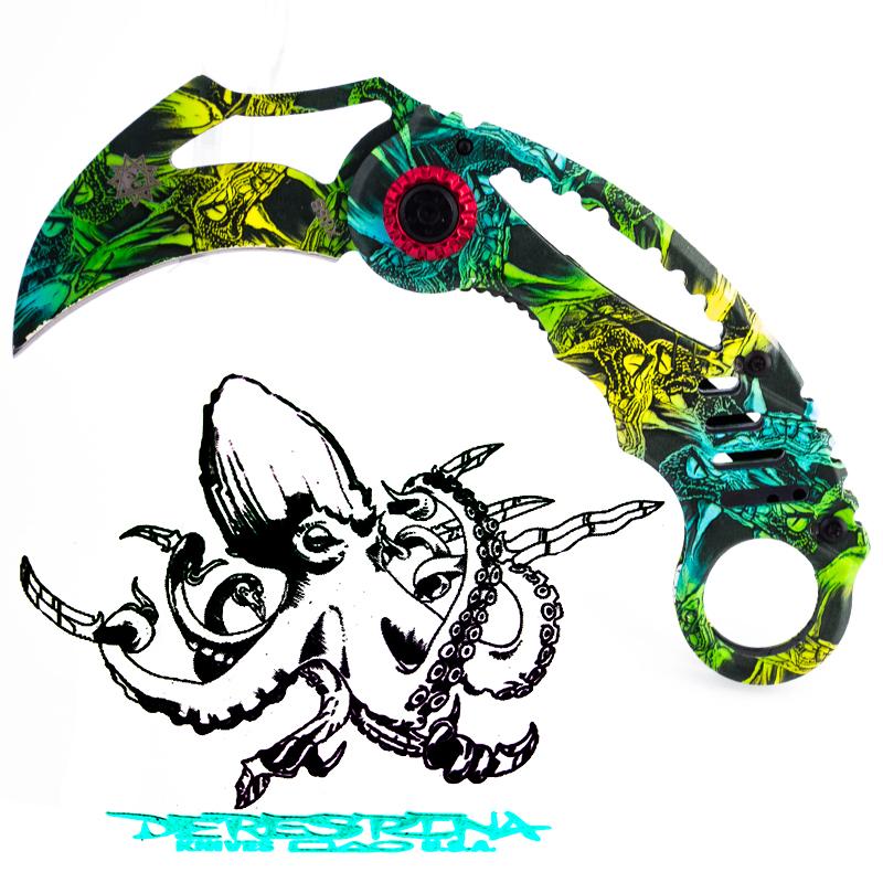 Стоманен сгъваем нож DERESRINA X68B VENOM - KARAMBIT