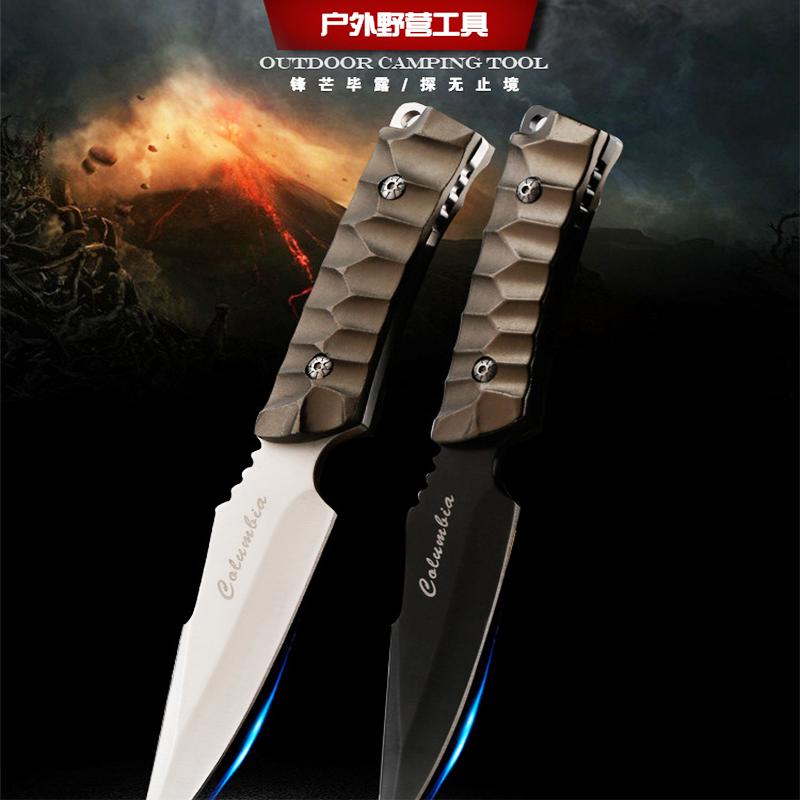 Изцяло метален тактически нож COLUMBIA USA K-605 BLACK FIGHT, ловен нож