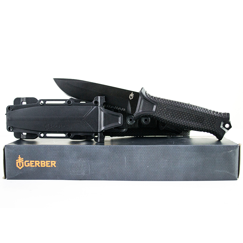 Топ модел тактически, многоцелеви нож GRBR 1214B BLACK EDITION USA, Ловен нож