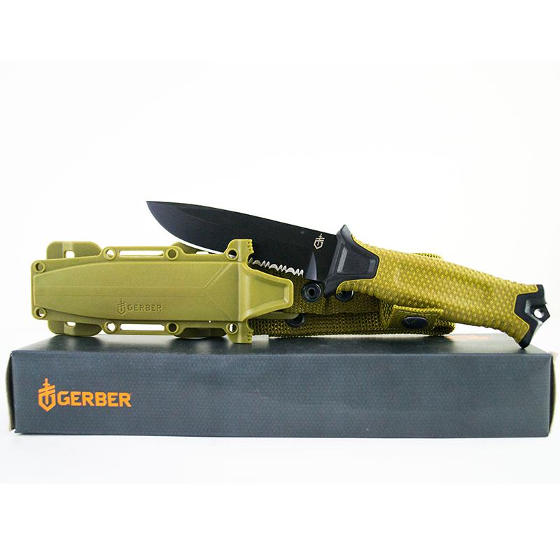 Топ модел тактически, многоцелеви нож GRBR 1214B GREEN MILITARY EDITION USA, Ловен нож