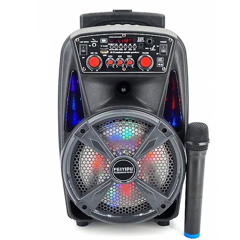 Компактна активна акумулаторна караоке система FEIYIPU ES-86 8 inch, 300W max,  1 микрофон