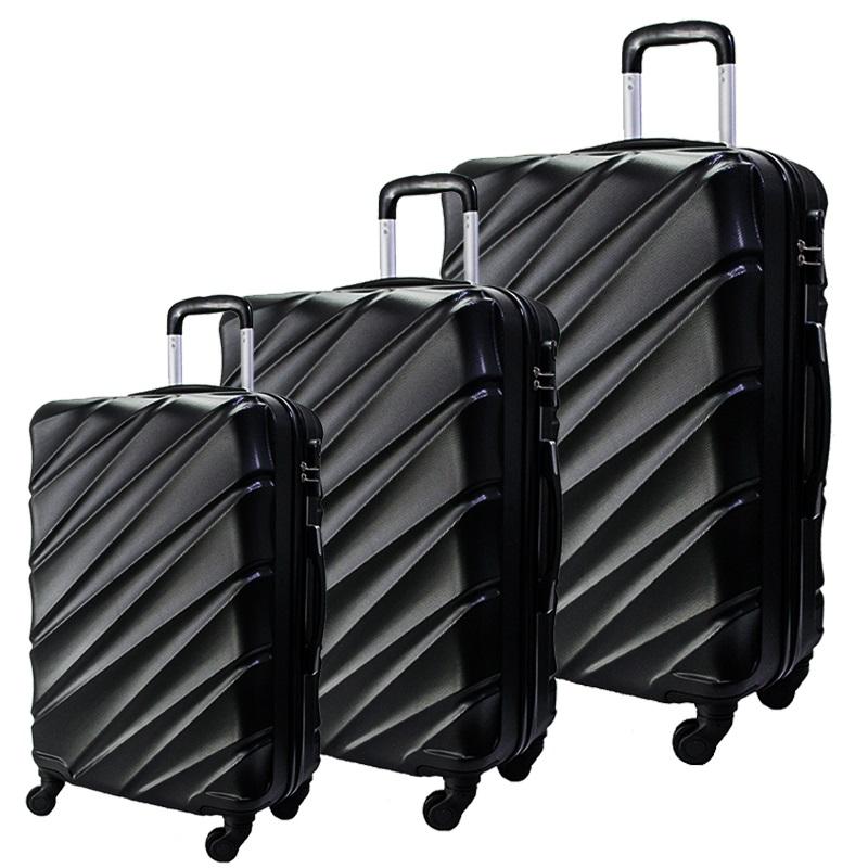 Комплект 3 броя ABS куфари ART GALERY VAN GOGH 8073,  скрит механизъм, BLACK