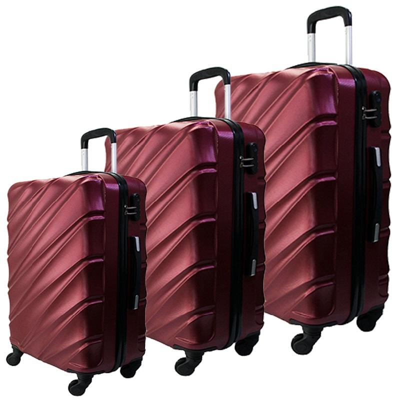 Комплект 3 броя ABS куфари ART GALERY VAN GOGH 8073,  скрит механизъм, BORDEAUX