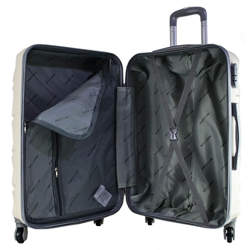 ЛИКВДАЦИЯ:комплект 3 броя ABS куфари ART GALERY VAN GOGH 8073,  скрит механизъм,CHAMPAIGNE