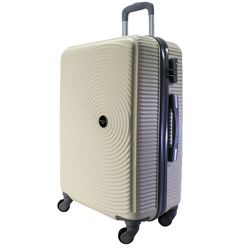 ЛИКВИДАЦИЯ:комплект 3 броя ABS куфари ART GALERY PICASSO 8080,  скрит механизъм,SHAMPAIGNE