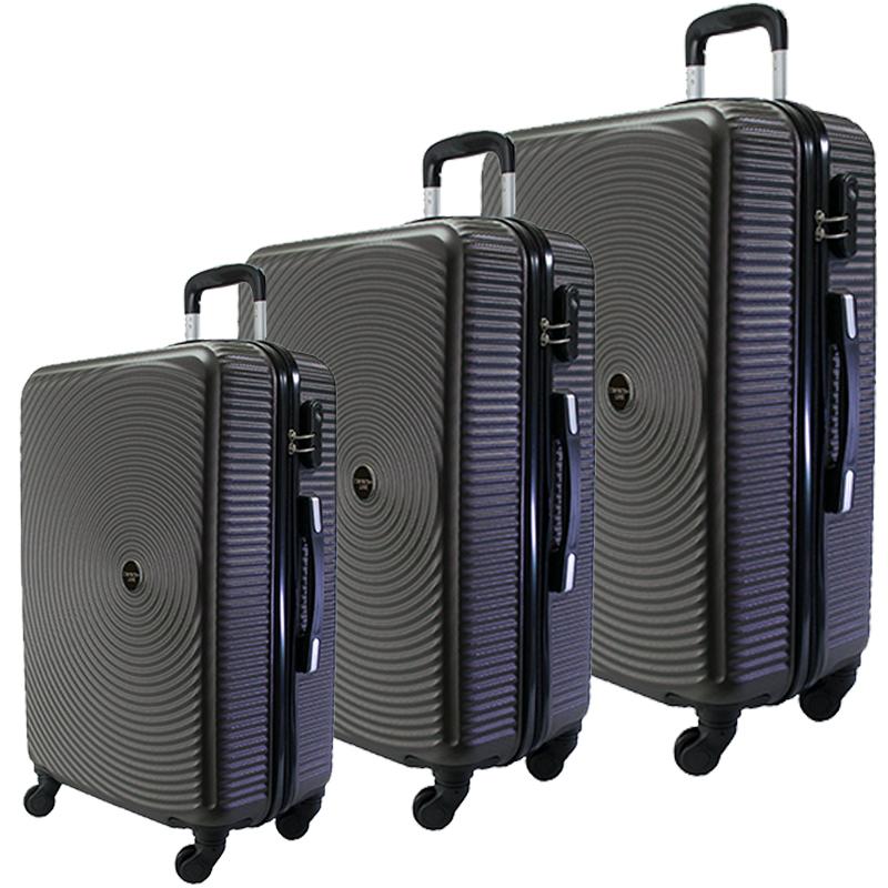 Комплект 3 броя ABS куфари ART GALERY PICASSO 8080,  скрит механизъм,  GRAPHITE