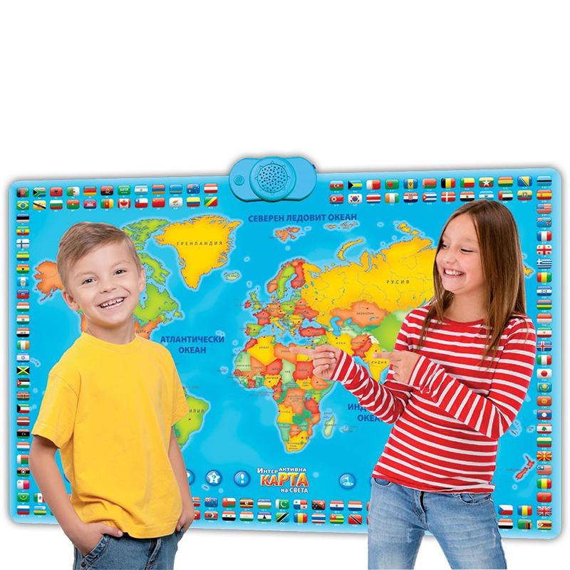 Интерактивна, образователна игра Карта на света