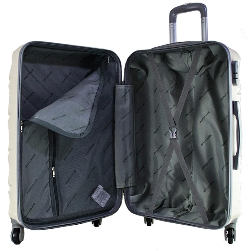 Комплект 3 броя ABS куфари ART GALERY GOYA 8077, скрит механизъм, BLACK, С РАЗШИРЕНИЕ