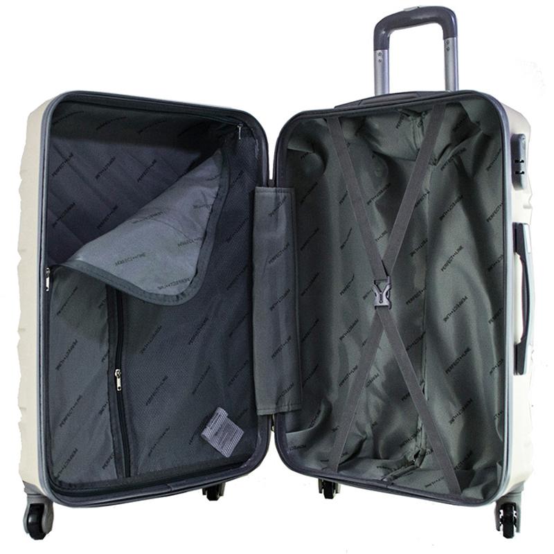 Комплект 3 броя ABS куфари ART GALERY SALVADOR DALI 8078, скрит механизъм, PINK