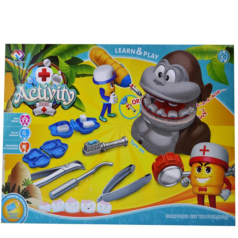 Интерактивна детска играчка TOOTHY MONKEY DRILL`N FILL
