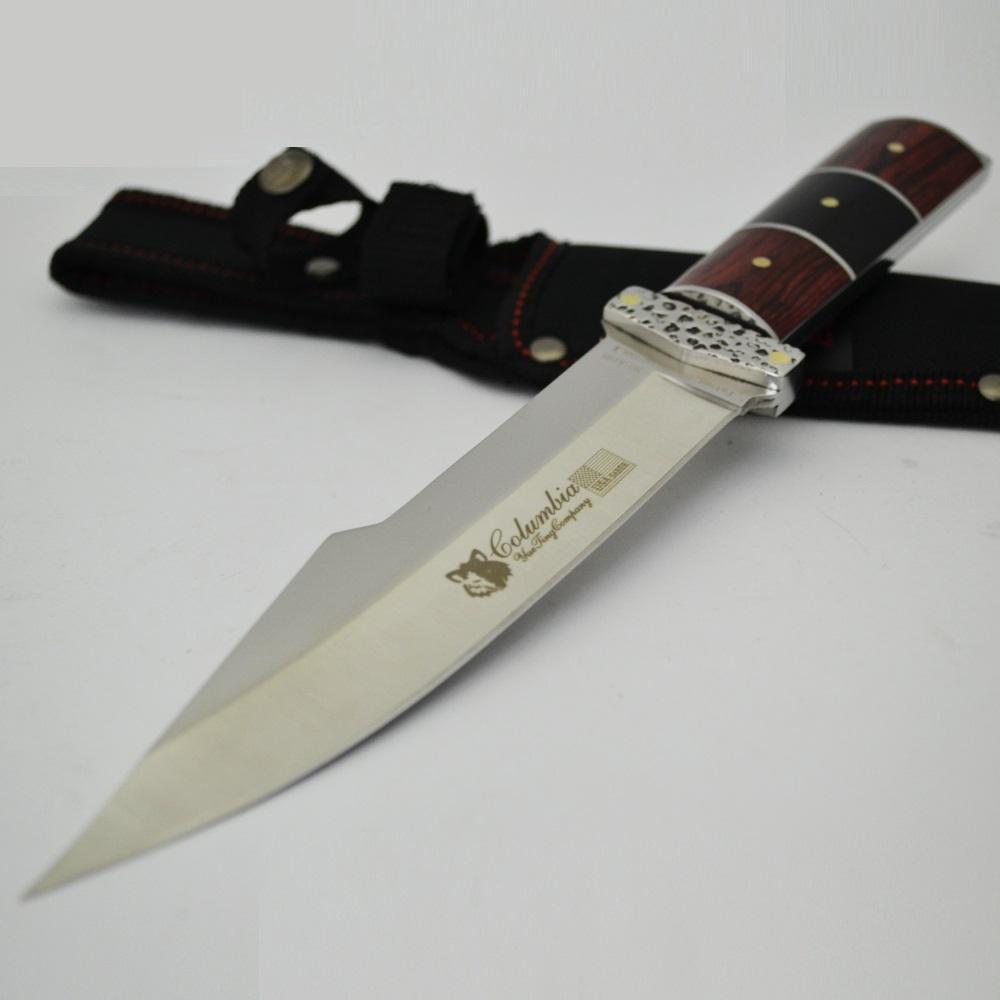 Спартански ловен нож Columbia A16S, агресиван дизайн, трикомпонентна дръжка полимер