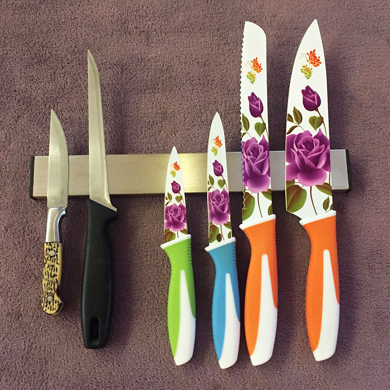 Висок клас иноксова магнитна поставка за ножове и остриета KAW 3.0 - 30.5 см