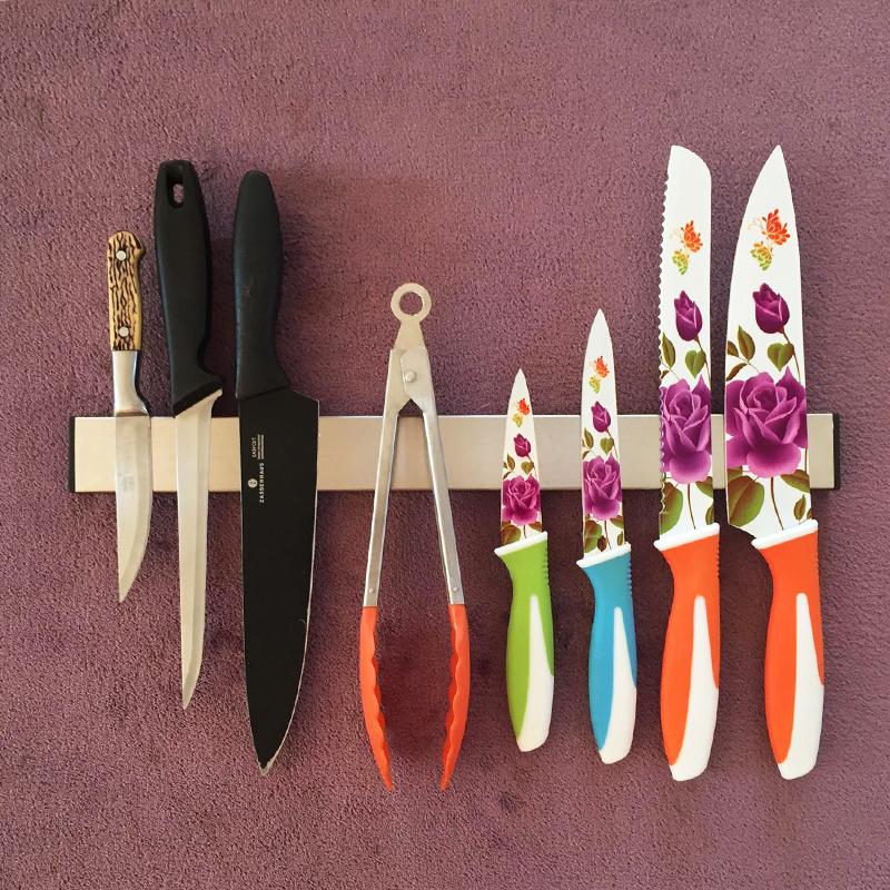 Висок клас иноксова магнитна поставка за ножове и остриета KAW 4.0 - 40.5 см