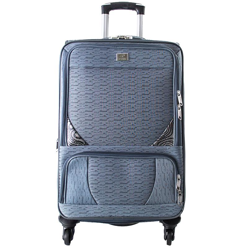Висок клас разширяващи се текстилни спинър куфари GREY 1502 - 3 броя
