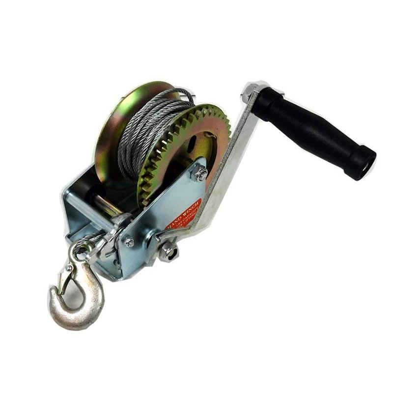 СПАСЕНИЕТО: мощна ръчна лебедка 2000lbs - 907 кг.