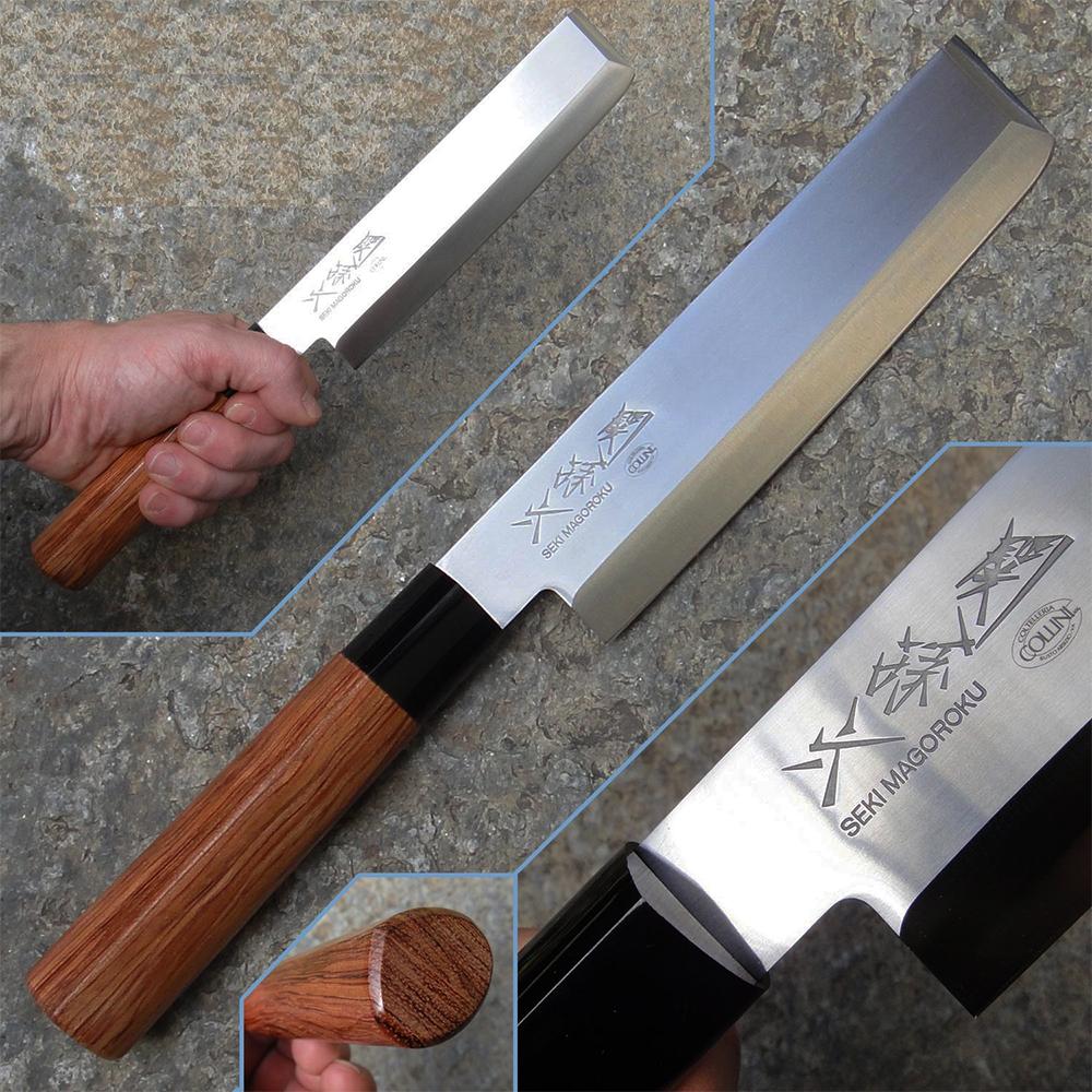 Висок клас SHEFF японски кухненски нож USUBA KAI MGR 0165N