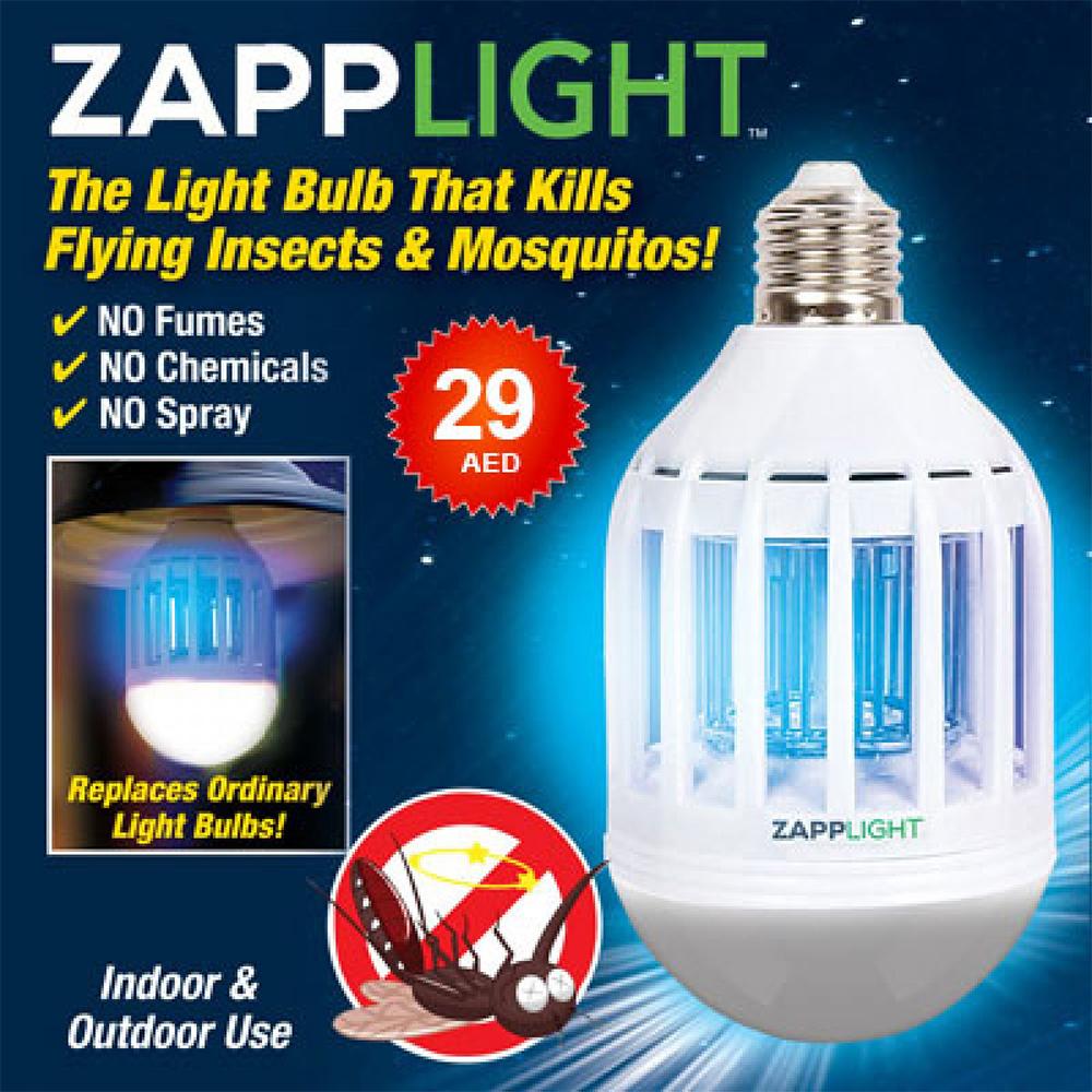 ZAPPLIGHT: LED крушка 9W=60W с вграден UV унищожител на комари и вредители
