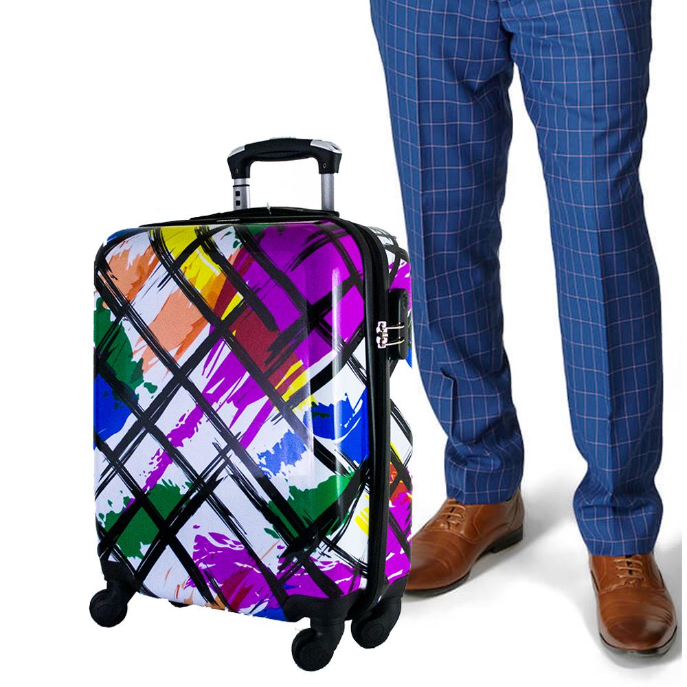 Най-висок клас поликарбонов авио куфар-спинър за ръчен багаж HANDLE TRAVELLER 910-3