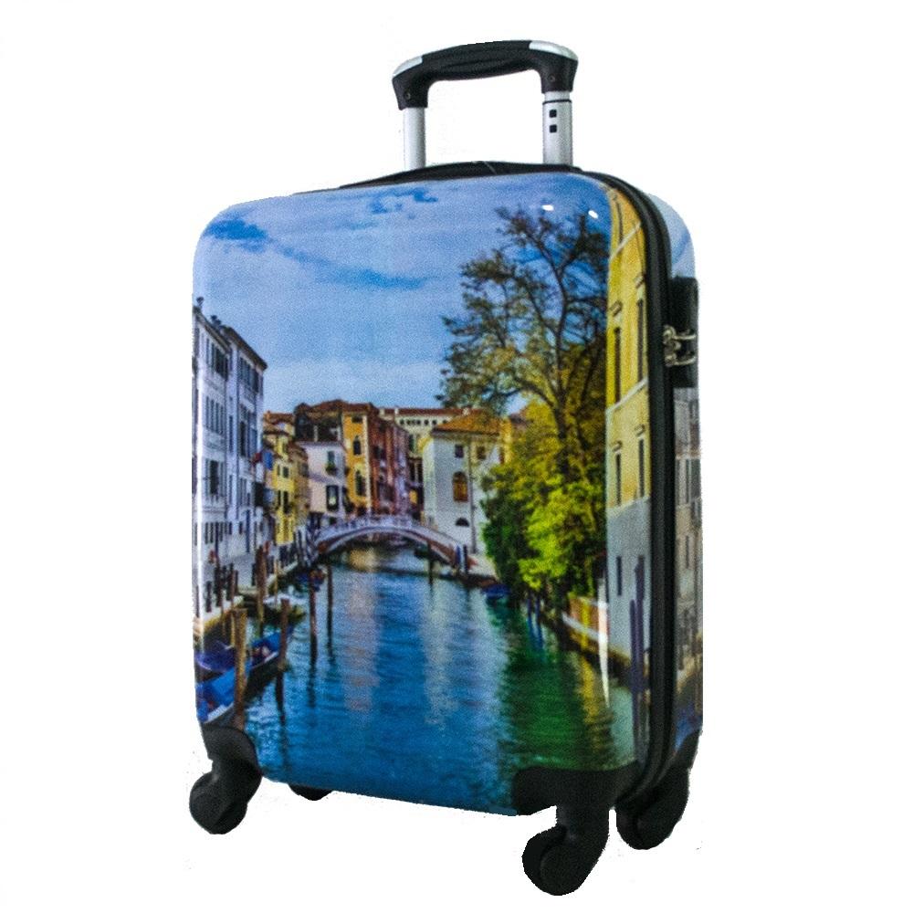 Най-висок клас поликарбонов авио куфар-спинър за ръчен багаж HANDLE TRAVELLER 910-1