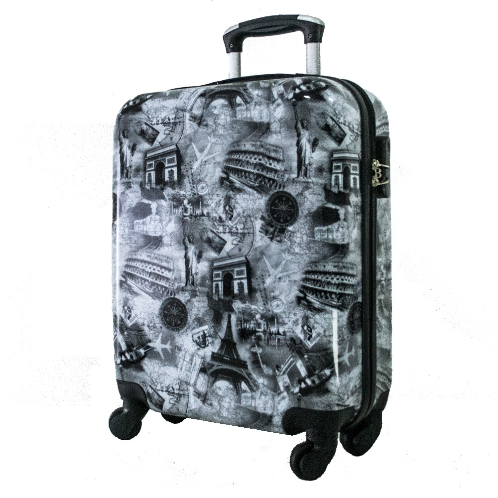Най-висок клас поликарбонов авио куфар-спинър за ръчен багаж HANDLE TRAVELLER 910-2