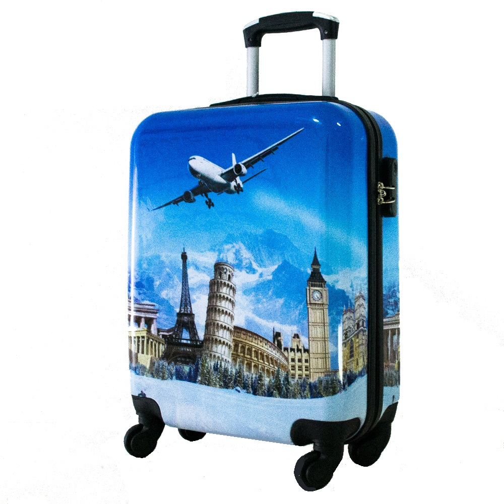 Най-висок клас поликарбонов авио куфар-спинър за ръчен багаж HANDLE TRAVELLER 910-4