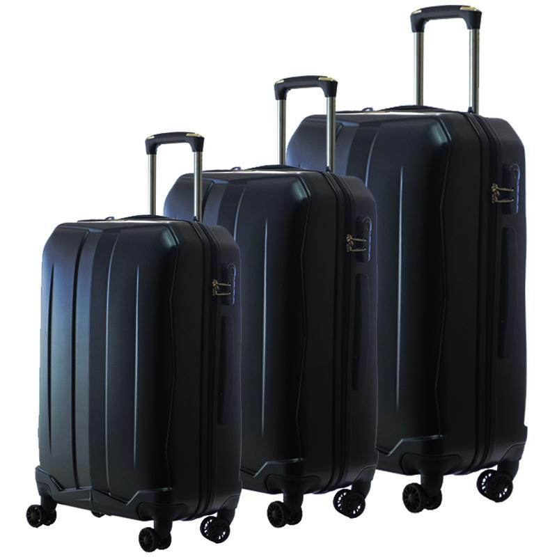 HIGH CLASS Комплект 3 броя ABS авио куфари-спинъри TRANSIT 850 DARK BLUE