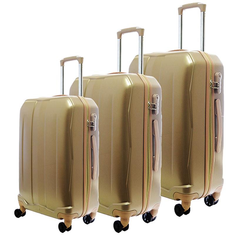 HIGH CLASS Комплект 3 броя ABS авио куфари-спинъри TRANSIT 850 GOLD