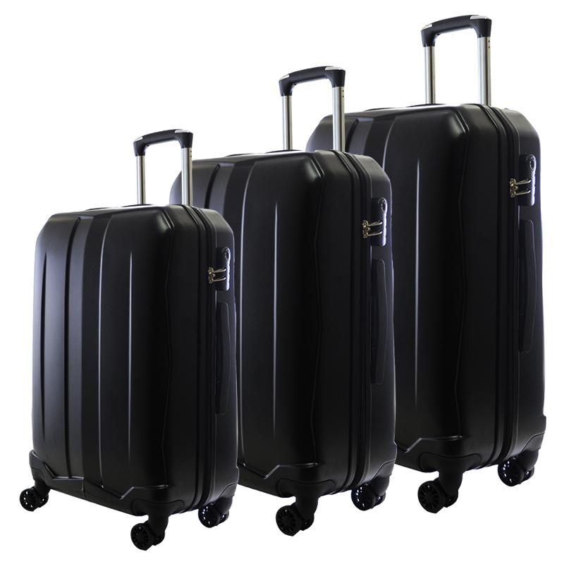 HIGH CLASS Комплект 3 броя ABS авио куфари-спинъри TRANSIT 850 BLACK