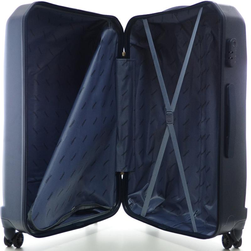 HIGH CLASS Комплект 3 броя ABS авио куфари-спинъри TRANSIT 850 ТЪМНО СИН ЦВЯТ!!!
