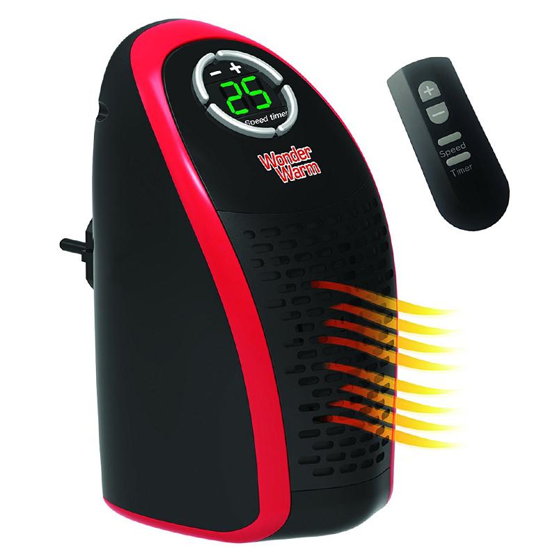 Луксозна мобилна икономична печка WONDER WARM 400W с дистанционно управление, отоплител