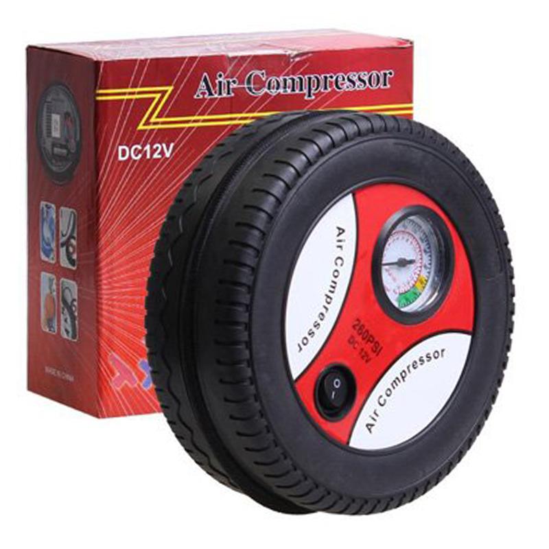 Лек преносим авто компресор за автомобил DC 12 V с формата на гума