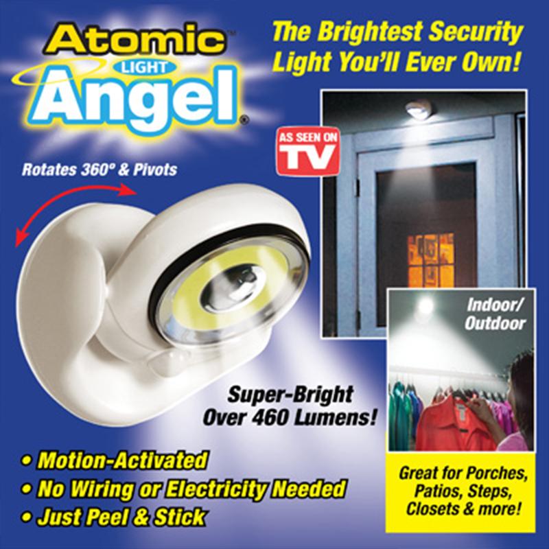 Мощна 25 LED автономна лампа на батерии и датчик за движение ATOMIC ANGEL