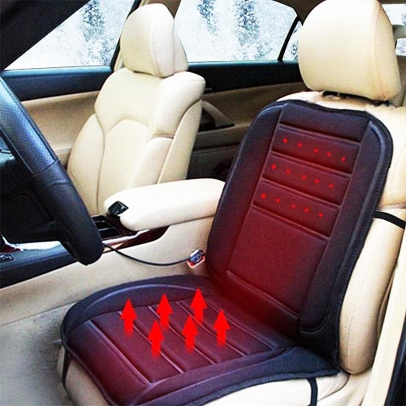 Подгряваща постелка за автоседалка, сгрява гърба и седалището, 12V