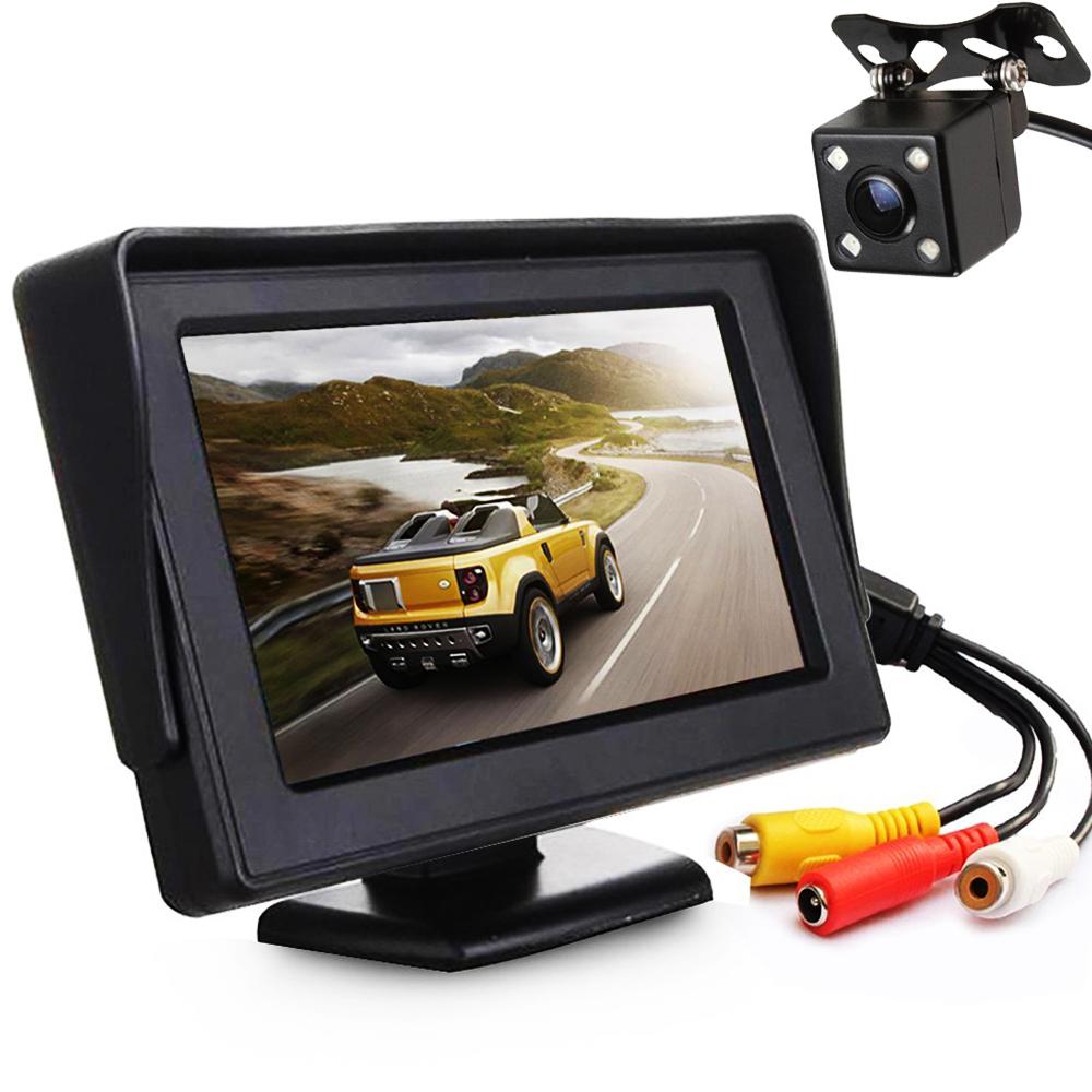 Интегрирана авто система от 4.3 инча TFT монитор и камера за заден ход и нощно виждане