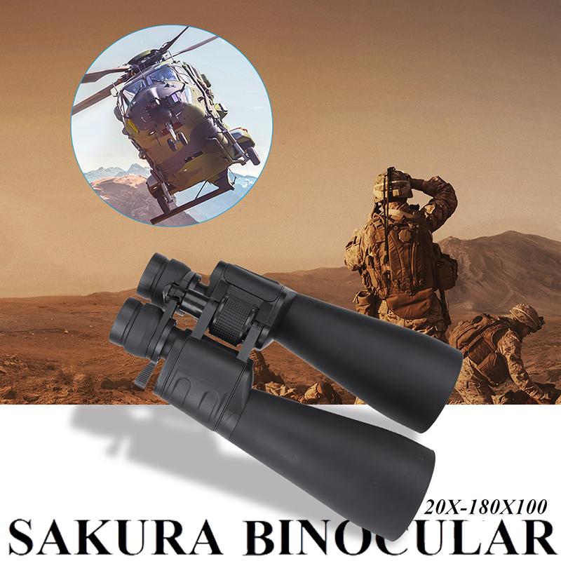 Огромен японски десантен бинокъл SAKURA 20X-180X100 с подарък карбонов калъф-чанта