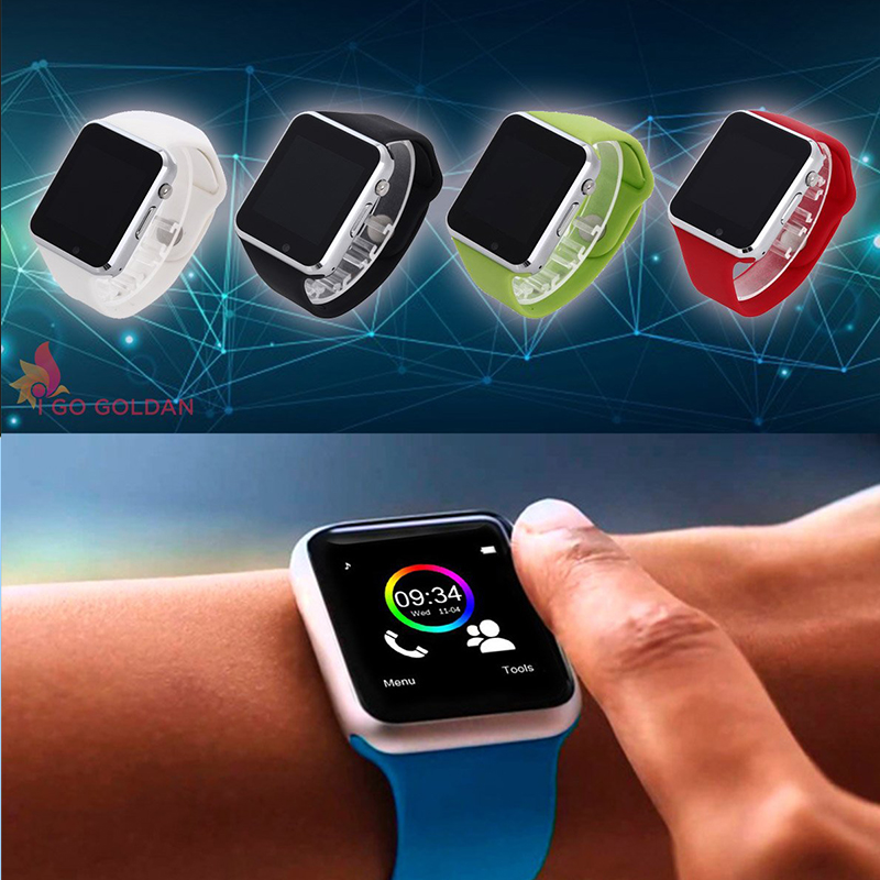 Eлегантен смарт часовник A1 със GSM модул със слот за SIM карта, карта памет, блутут и др.