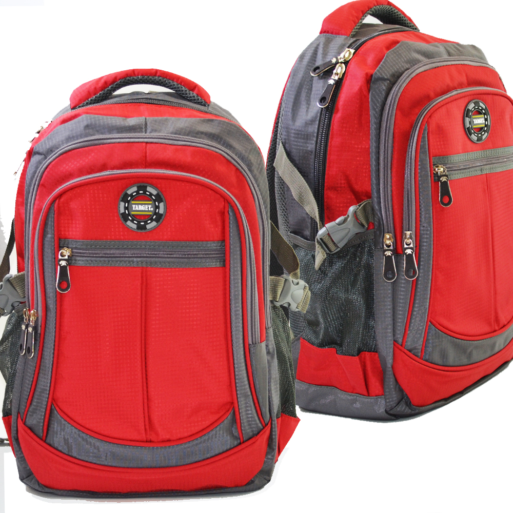 Разпродажба: висок клас туристическа / ученическа / спортна раница TARGET 7203 RED, среден