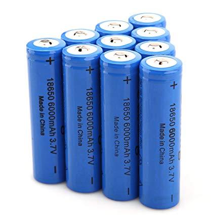 Акумулаторна батерия модел 18650 LiIon 3.7V 5800-6000 mAh BLUE