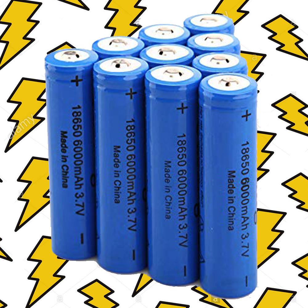 Мощна акумулаторна батерия модел 18650 LiIon 3.7V 5800-6000 mAh BLUE, дждж