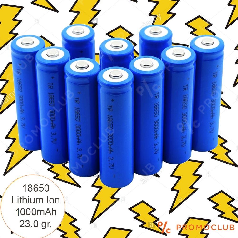 Среден клас акумулаторна батерия модел 18650 LiIon 3.7V 1000mAh BLUE