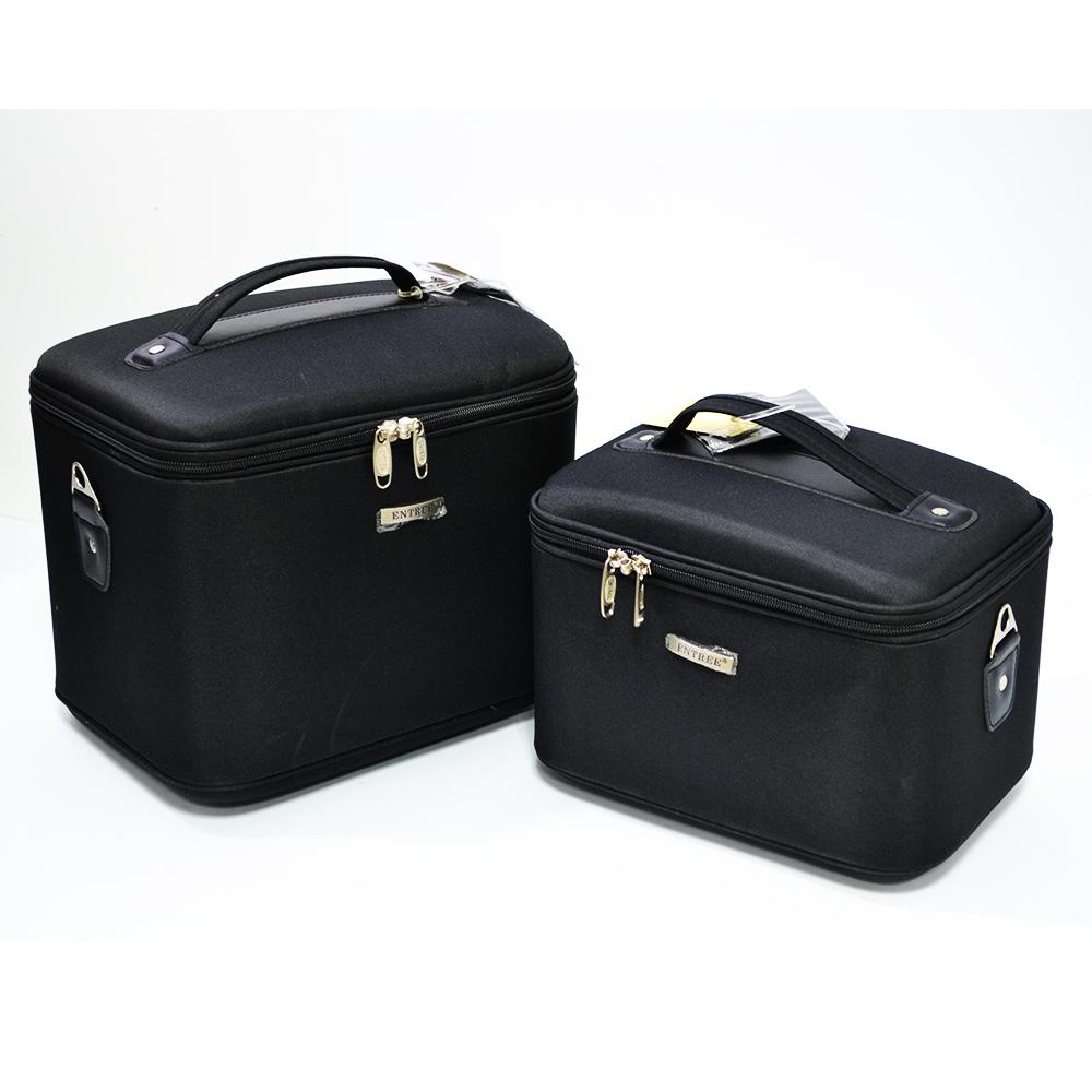Комплект 2  супер луксозни пътни чанти за козметика, бельо и лични вещи  ENTREE PRO BLACK