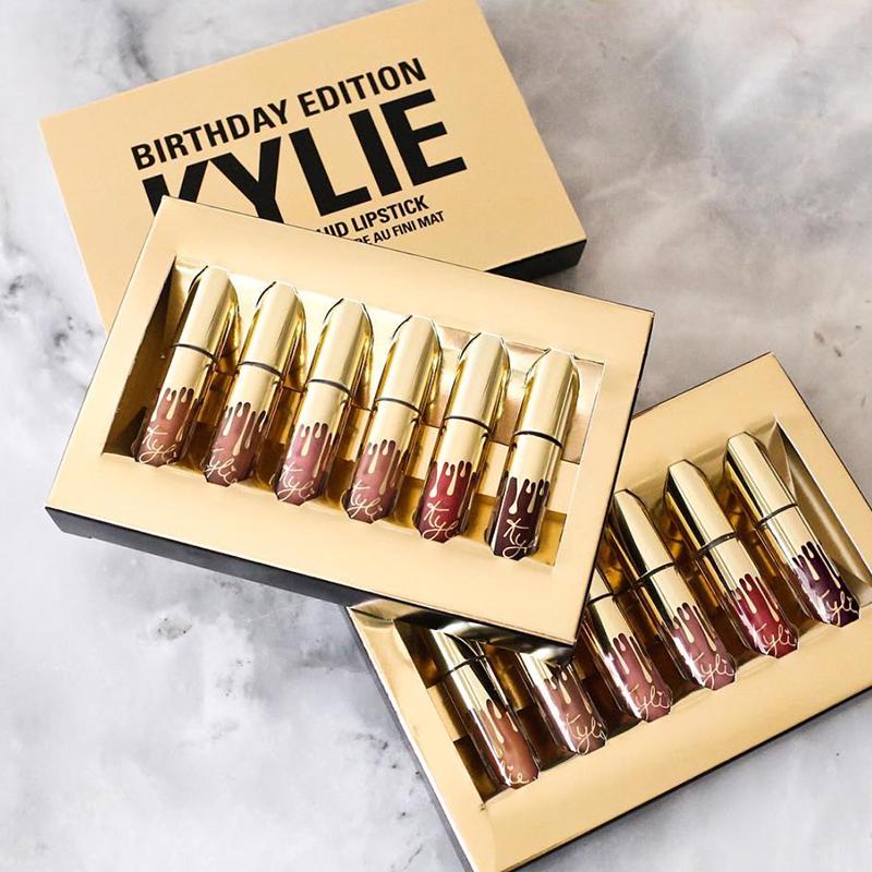 Комплект 6 броя течни матови мини червила KYLIE- пълна гама цветове
