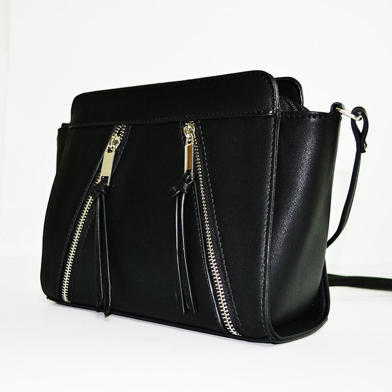 Разпродажба: елегантна дамска чанта DB ZIPPER 1001, твърда конструкция, еко кожа