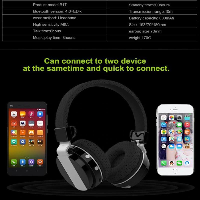 Оригинални блутудни MP3 радио слушалки ZEALOT SPACE047 HiFi, хедсфри
